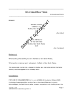 Bill of Sale (Australian) template free sample
