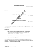 Employment Agreement (Australian) template free sample