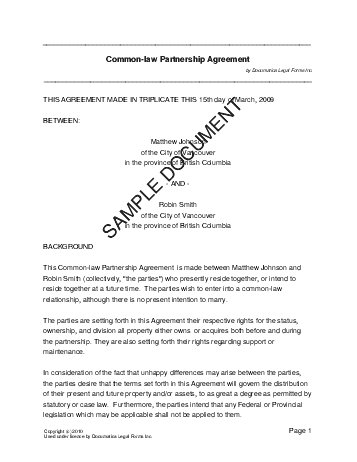 Prenuptial Agreement (Canadian) template free sample