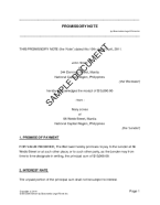 Promissory Note (Philippines) template free sample