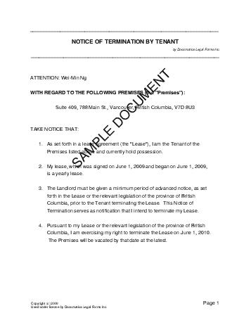 tenancy letter template.