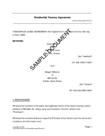 Far Bar Lease Agreement