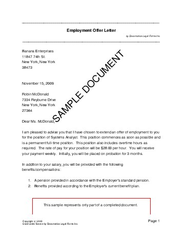 EMPOFFER_Sample.pdf Job Application Form New Zealand on blank generic, part time, free generic,