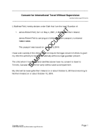 United Kingdom Child Travel Consent  Free Child Travel Consent Form Template