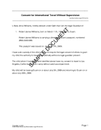 US Territories Child Travel Consent  Free Child Travel Consent Form Template