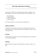 Photo/Video Consent Agreement template free sample