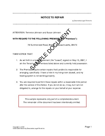 Notice to Repair (Brazil) - Legal Templates - Agreements ...