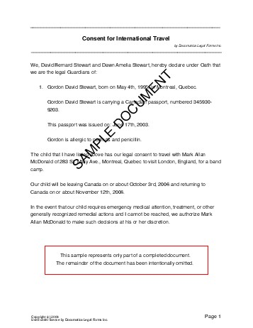 sle consent letter for children travelling abroad with one parent child travel consent canada templates 501