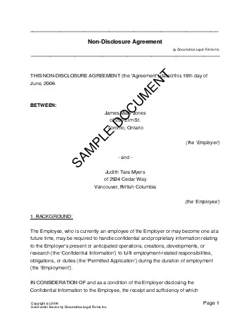 Canada consulting contract and confidentiality agreement | legal.