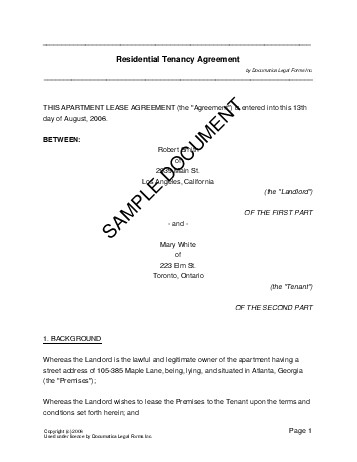 Residential RentalLease New Zealand  Legal Templates