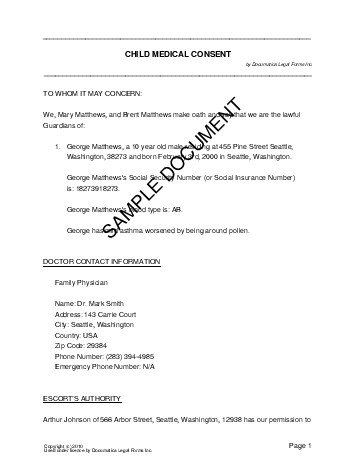 It's just an image of Free Printable Medical Consent Form for Minor Child inside parental consent