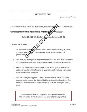 Notice To Quit Philippines Legal Templates