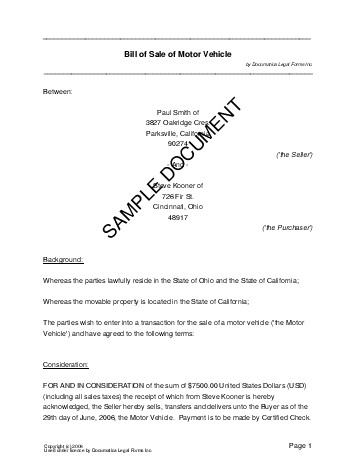 sample deed of sale