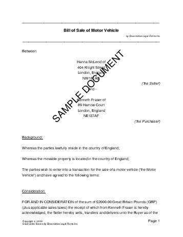 used car sales invoice template uk – notators, Invoice examples